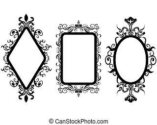 葡萄酒, 框架, 鏡子