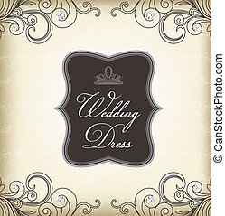 葡萄酒, 框架, (wedding, dress)