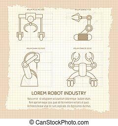 葡萄酒, 武裝, 機器, 海報, 機器人