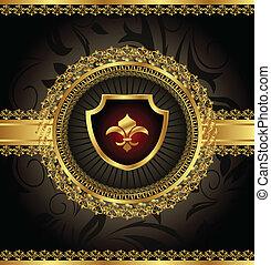 葡萄酒, 由于, heraldic, 元素