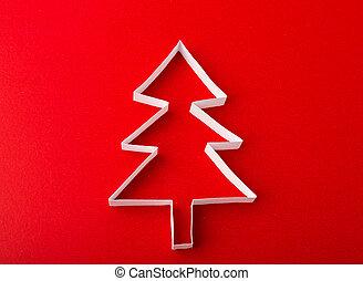 葡萄酒, 聖誕節, 明信片, 由于, 真實, 紙, 圣誕樹