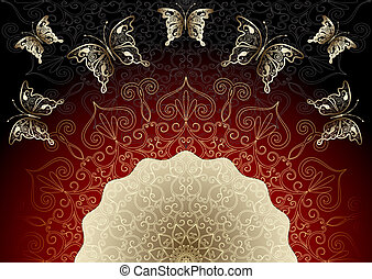 葡萄酒,  black-red, 框架, 金