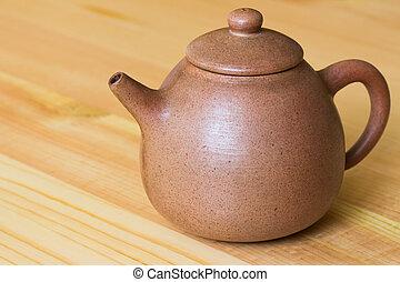 葡萄酒, retro, 漢語, 黏土, 茶壺