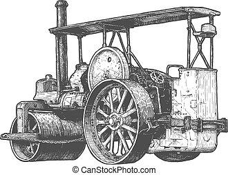 蒸気のローラー, 動力を与えられる