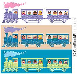 蒸気の 列車, 運転手