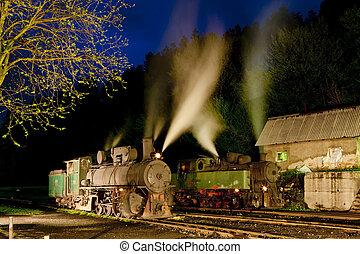 蒸気機関車, 夜