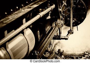 蒸気, 機関車