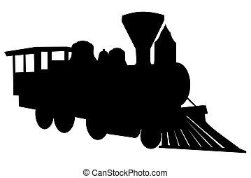 蒸汽, 機車