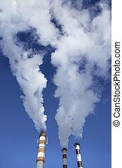 蒸汽, ......的, the, 工廠
