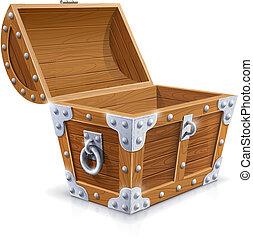 蓋子, 木制箱, 打開, 葡萄酒