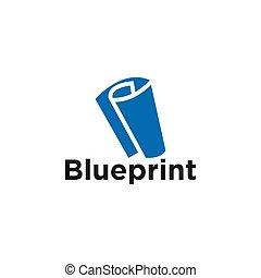 蓝图, 元素, 纸, 矢量, 样板, 标识语, 图标