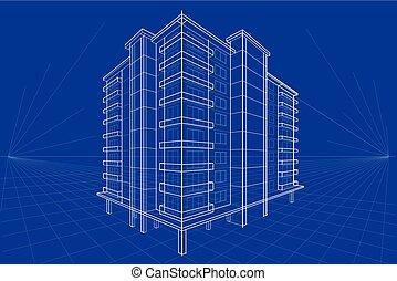 蓝图, 建筑物