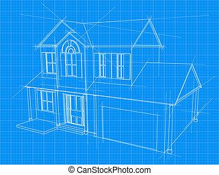 蓝图, 房子
