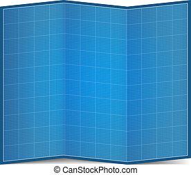 蓝图, 纸, 折叠