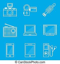 蓝图, 设备, set., 图标