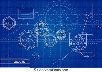 蓝图, 齿轮, 描述
