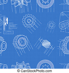 蓝图, 齿轮, seamless