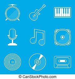 蓝图, set., 音乐, 图标