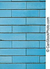 蓝的墙壁, 砖