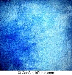 蓝的墙壁, 结构, 涂描, 粮食, 背景, 或者
