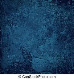 蓝的墙壁, grunge