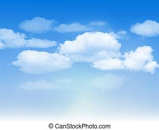 蓝的天空, 带, clouds.