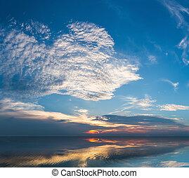 蓝的天空, 湖