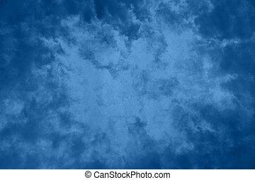 蓝的背景, 摘要, 黑暗, grunge