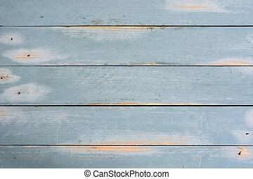 蓝的背景, 木制