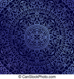 蓝的背景, 装饰物