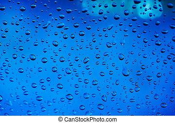 蓝色水, 下跌, 背景