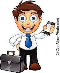 蓝色的领带, 企业家