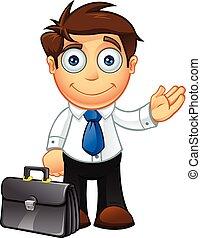 蓝色的领带, 性格, 企业家