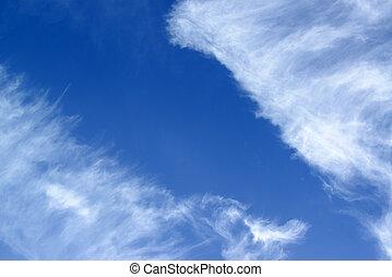 蓝色, 云, 背景
