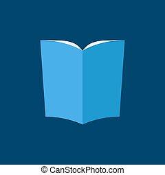 蓝色, 套间, 风格, 书, 图标