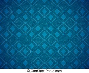 蓝色, 扑克牌, 矢量, 背景