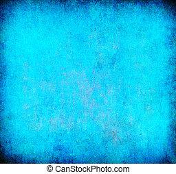 蓝色, 摘要, grunge, 背景, textured