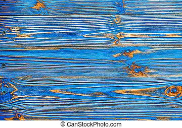 蓝色, 木制, grunge, longstanding, 背景
