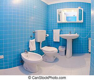 蓝色, 浴室