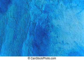 蓝色, 涂描墙壁, grunge, 结构