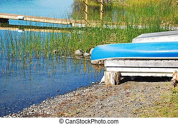 蓝色, 独木舟