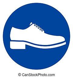 蓝色, 环绕, 鞋子, 图标