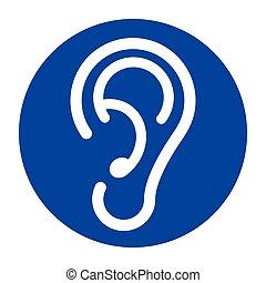 蓝色, 白色, 耳朵, 背景, 图标