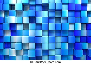蓝色, 盒子, 背景
