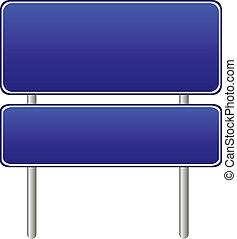 蓝色, 空白, 路标