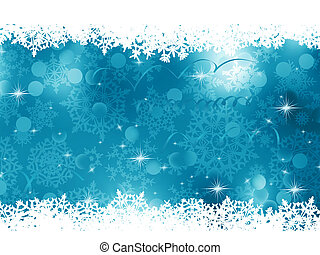 蓝色, 背景。, eps, 圣诞节, 8