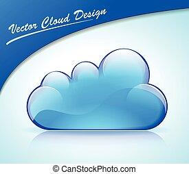 蓝色, 设计, 云, 图标