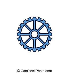 蓝色, 设计, 齿轮, 矢量, 概念, 元素, 或者, 图标, 轮子