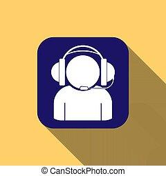 蓝色, 话筒, 广场, 侧面影象, headphones, 长期, 按钮, 遮蔽, 人
