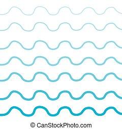 蓝色, 起浪, 背景